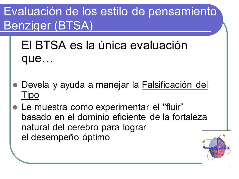 Evaluación de los estilo de pensamiento Benziger (BTSA)