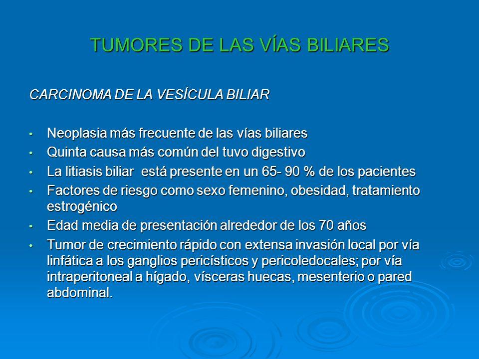 TUMORES DE LAS VÍAS BILIARES