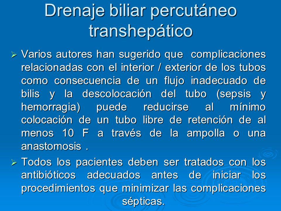 Drenaje biliar percutáneo transhepático