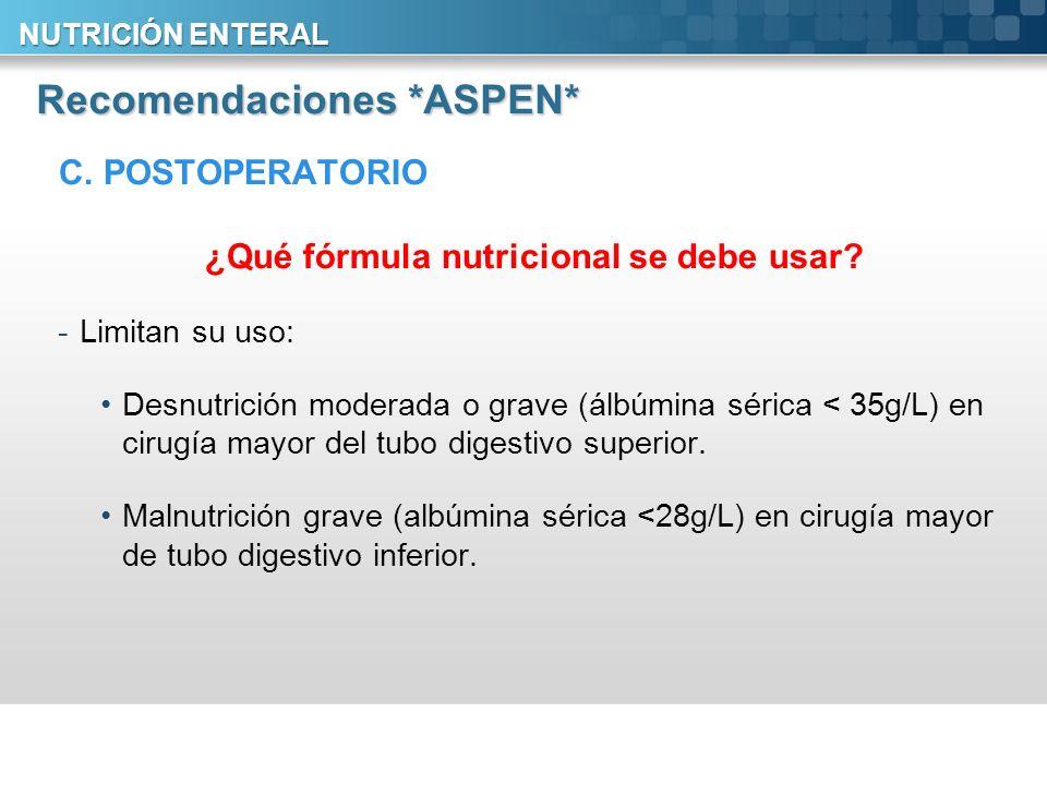 Recomendaciones *ASPEN*