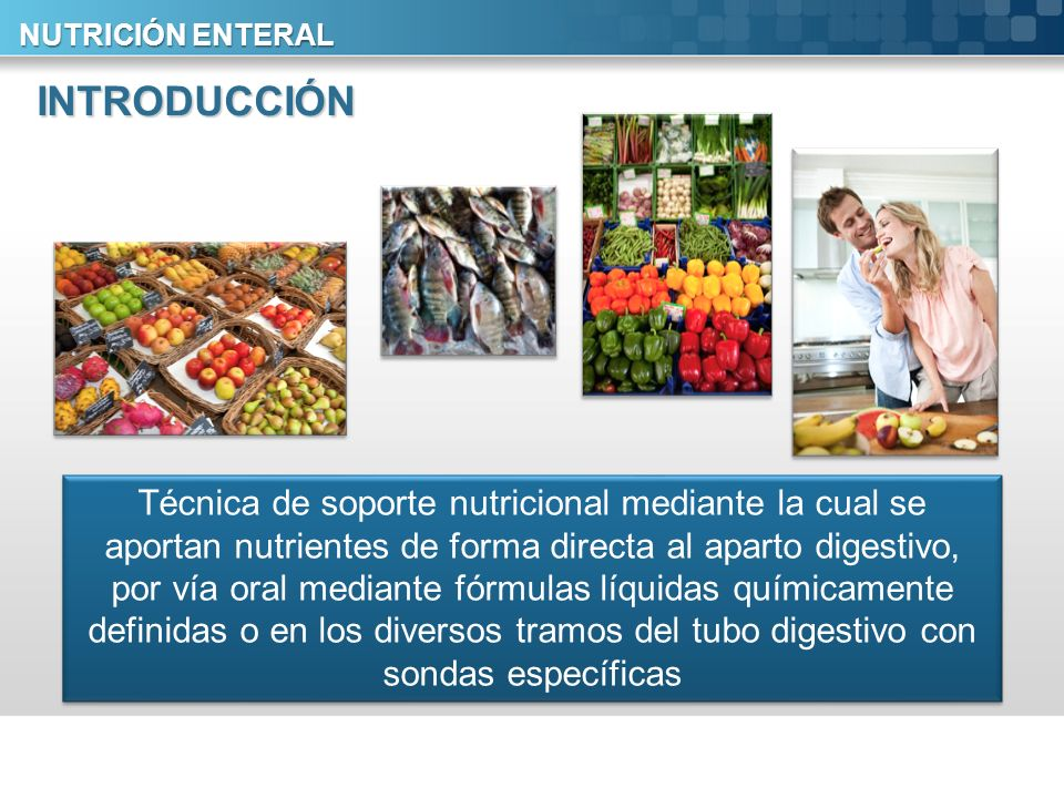 NUTRICIÓN ENTERAL INTRODUCCIÓN.