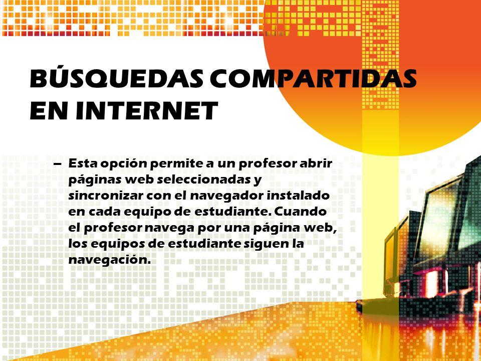 BÚSQUEDAS COMPARTIDAS EN INTERNET
