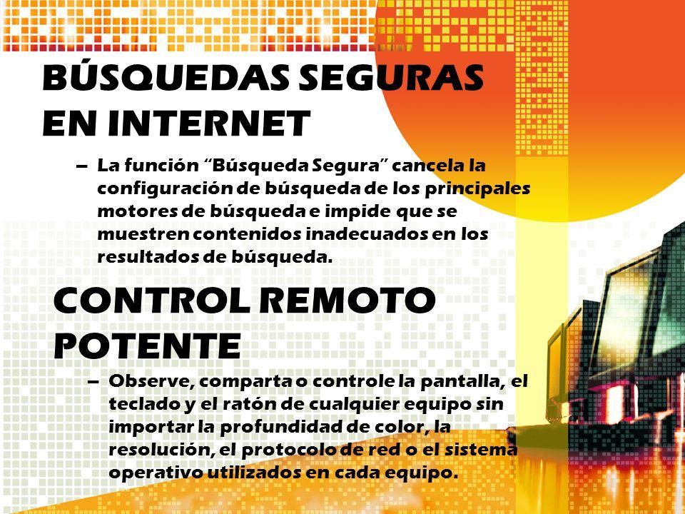 BÚSQUEDAS SEGURAS EN INTERNET