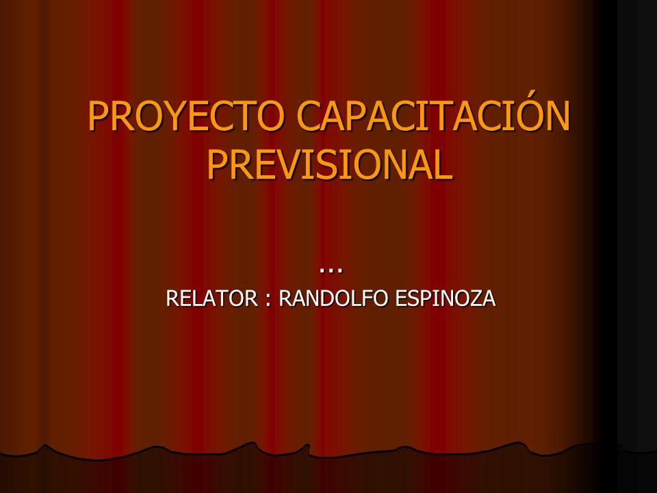 PROYECTO CAPACITACIÓN PREVISIONAL