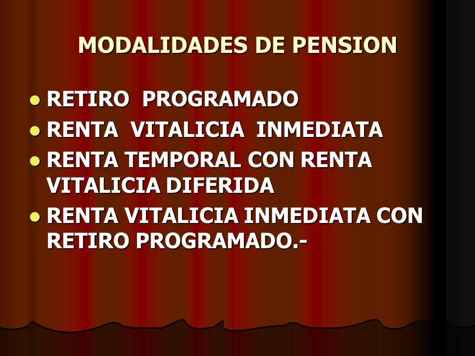 MODALIDADES DE PENSION