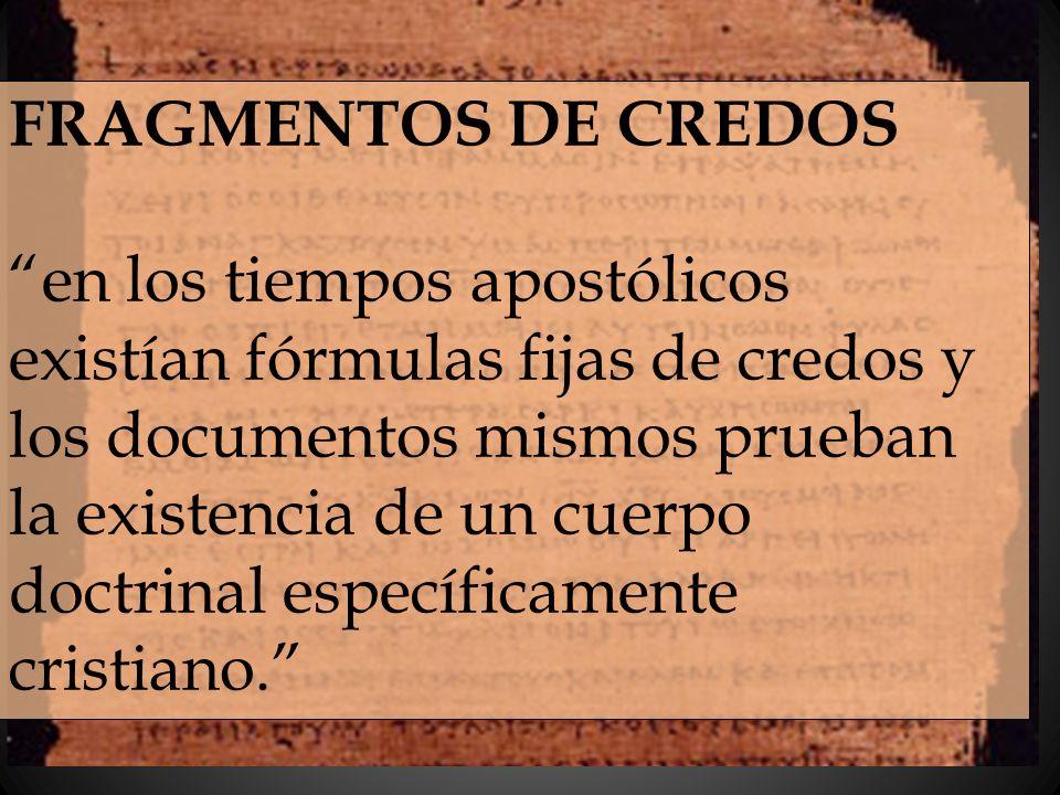 FRAGMENTOS DE CREDOS