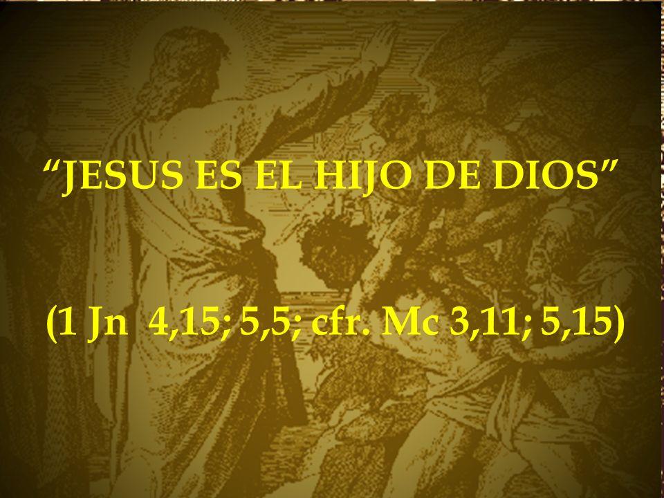 JESUS ES EL HIJO DE DIOS