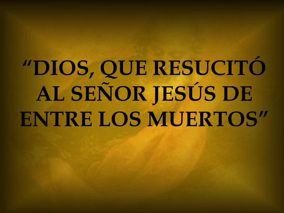 DIOS, QUE RESUCITÓ AL SEÑOR JESÚS DE ENTRE LOS MUERTOS