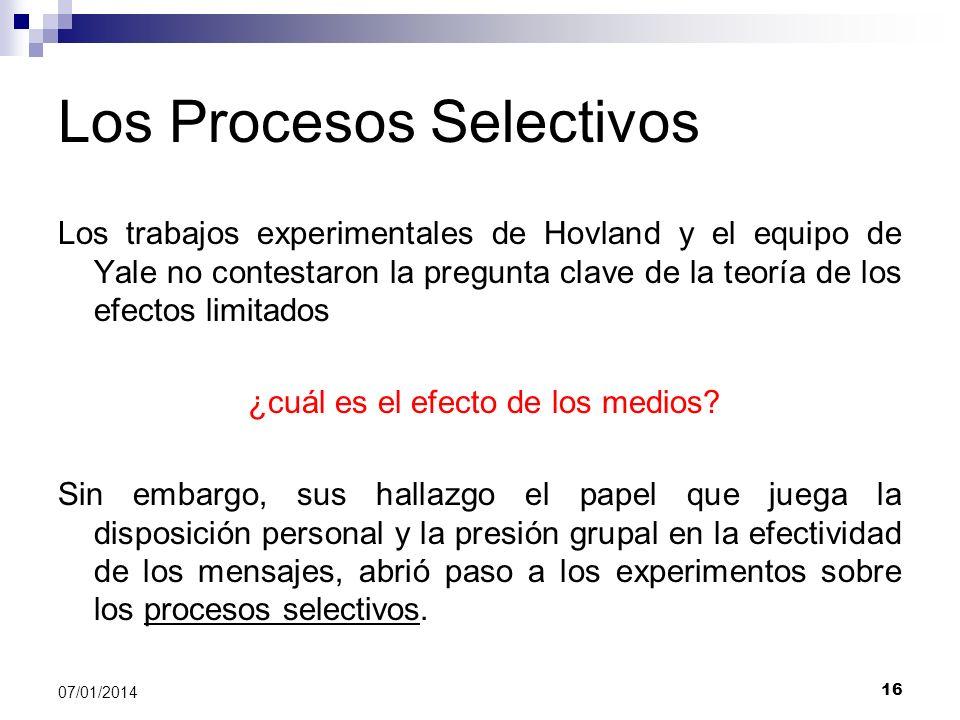 Los Procesos Selectivos