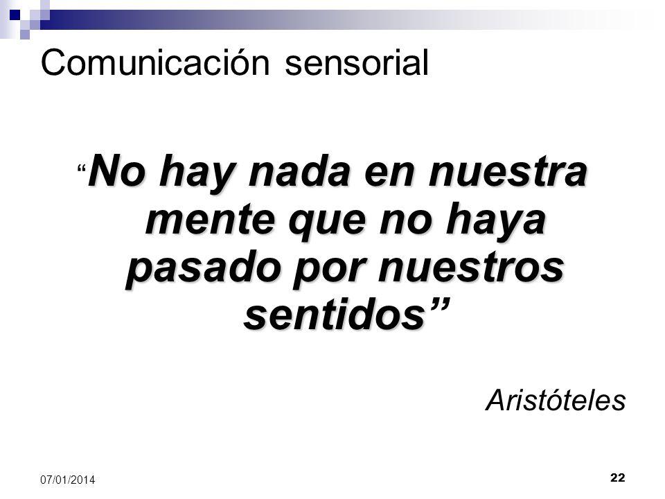 Comunicación sensorial