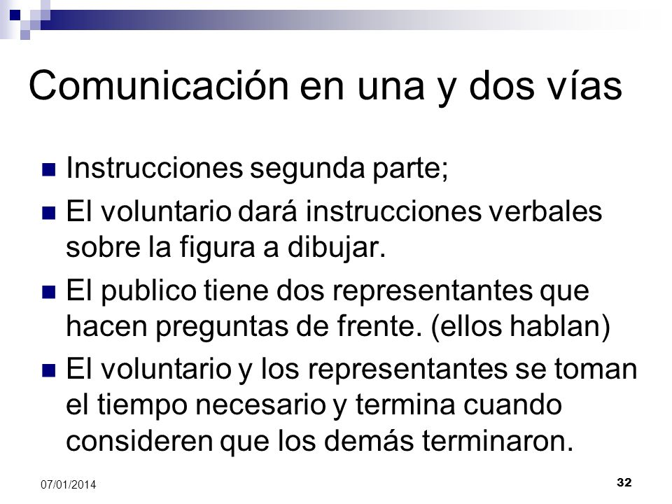 Comunicación en una y dos vías