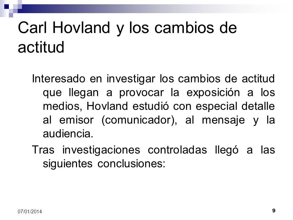 Carl Hovland y los cambios de actitud