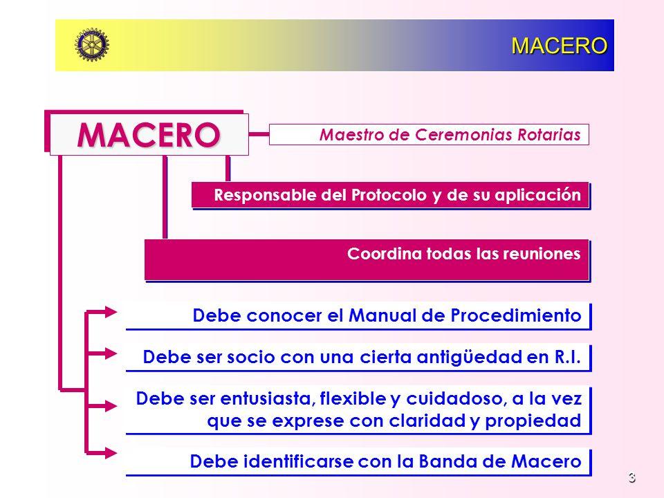 MACERO MACERO Debe conocer el Manual de Procedimiento