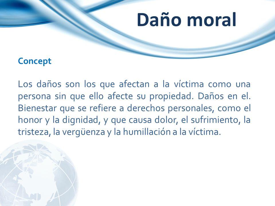 Daño moral Concept.