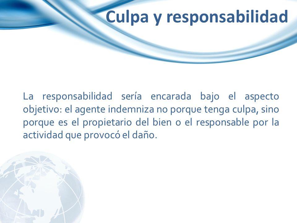 Culpa y responsabilidad