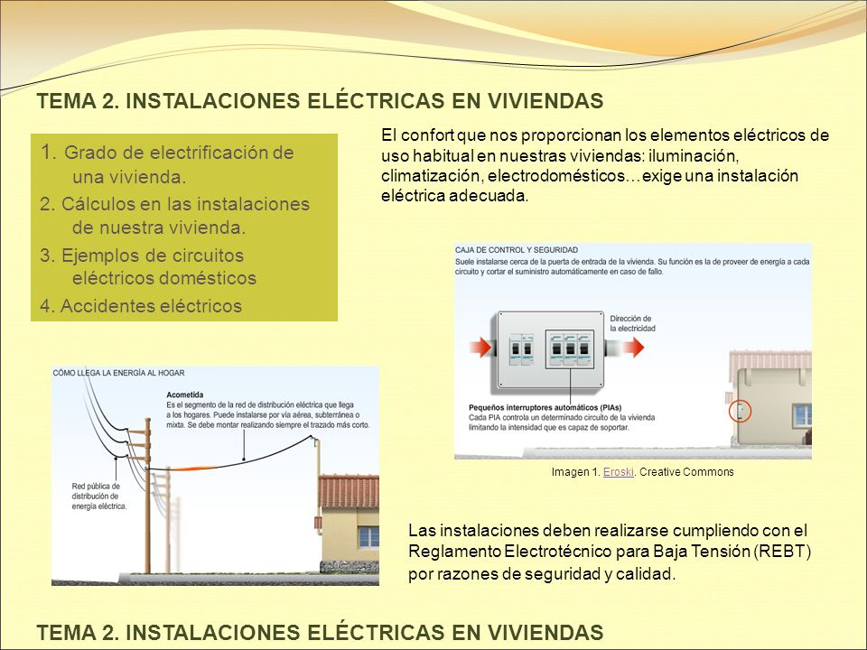 Tema 2 instalaciones el ctricas en viviendas ppt video online descargar - Eroski iluminacion ...