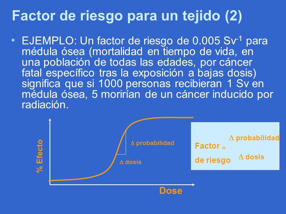 Factor de riesgo para un tejido (2)