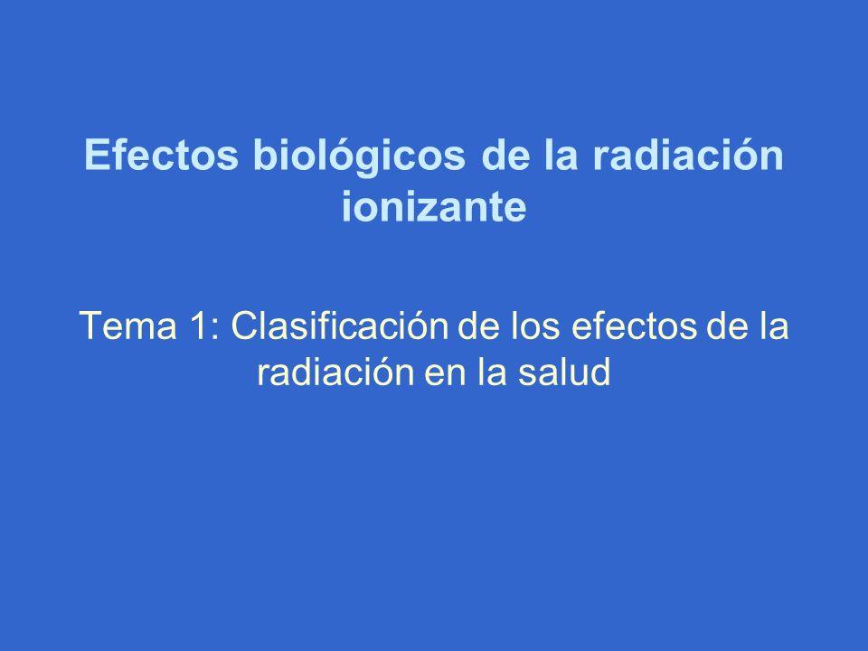 Efectos biológicos de la radiación ionizante