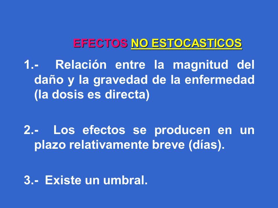 EFECTOS NO ESTOCASTICOS