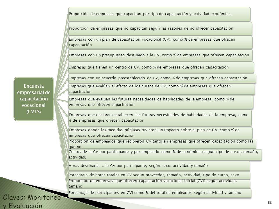 Encuesta empresarial de capacitación vocacional (CVTS)