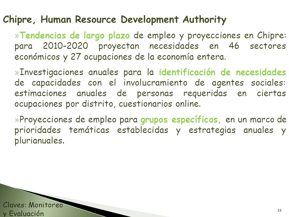 Chipre, Human Resource Development Authority