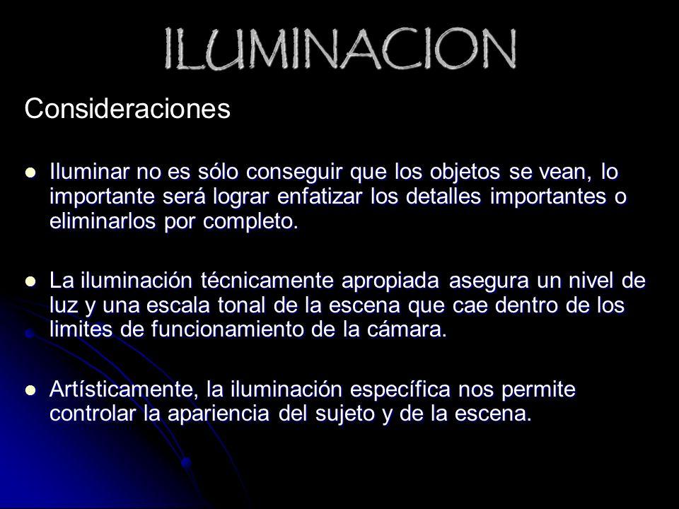 ILUMINACION Consideraciones