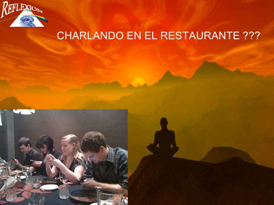 CHARLANDO EN EL RESTAURANTE