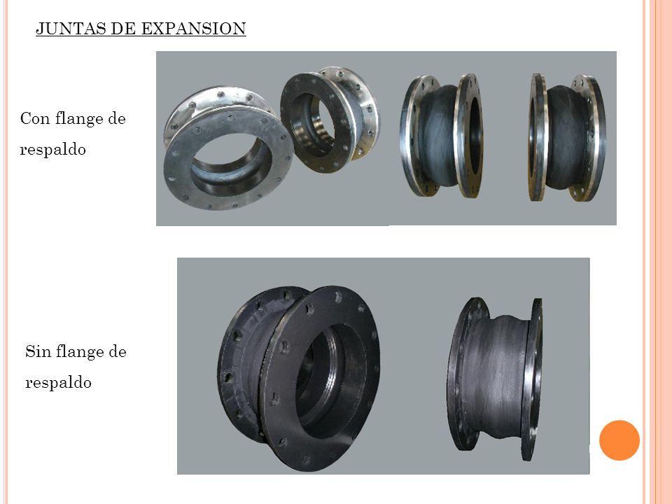 JUNTAS DE EXPANSION Con flange de respaldo Sin flange de respaldo