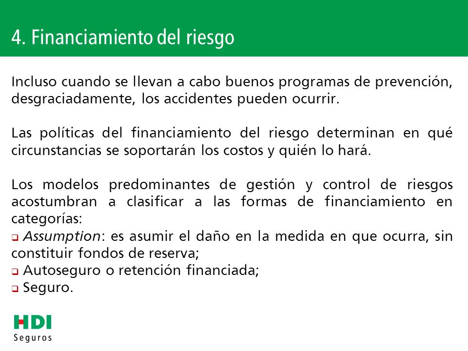 4. Financiamiento del riesgo