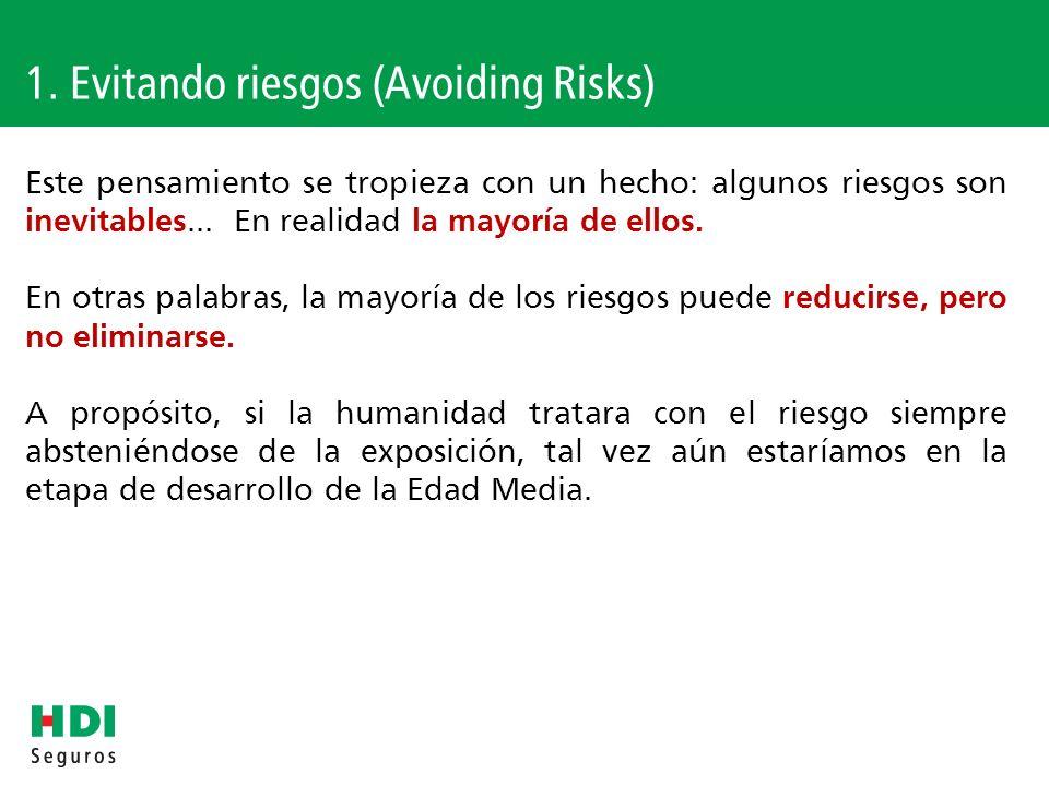 1. Evitando riesgos (Avoiding Risks)