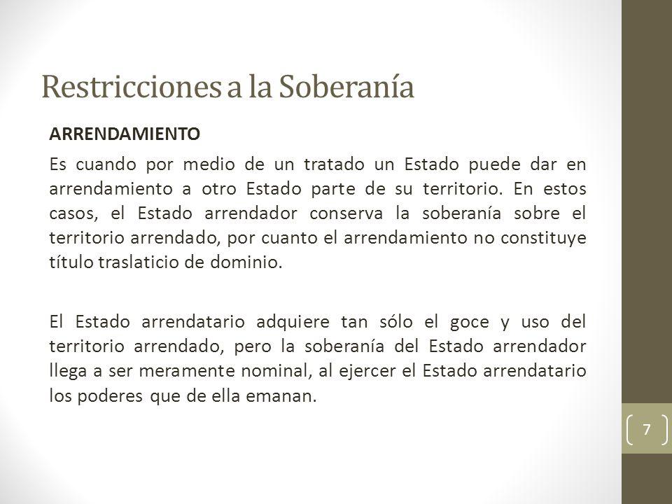 Restricciones a la Soberanía