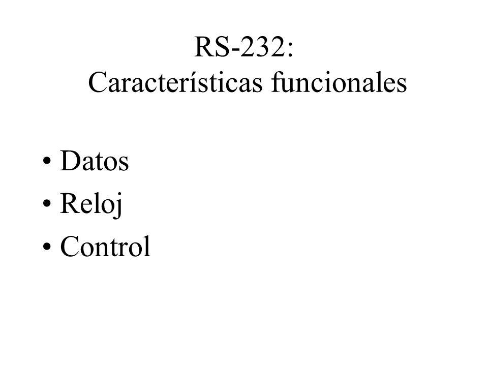 RS-232: Características funcionales