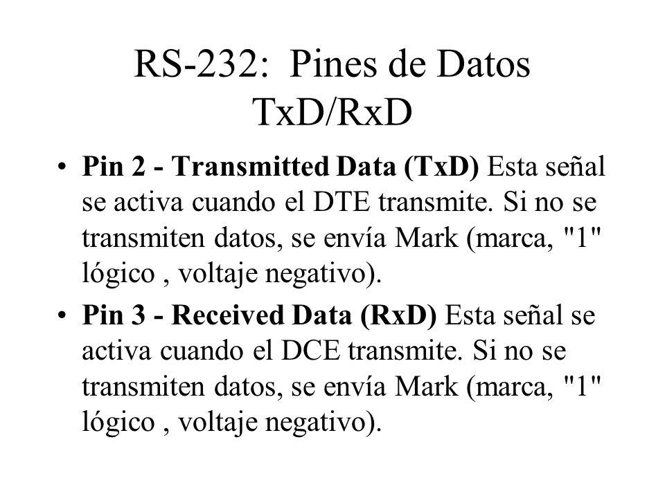 RS-232: Pines de Datos TxD/RxD