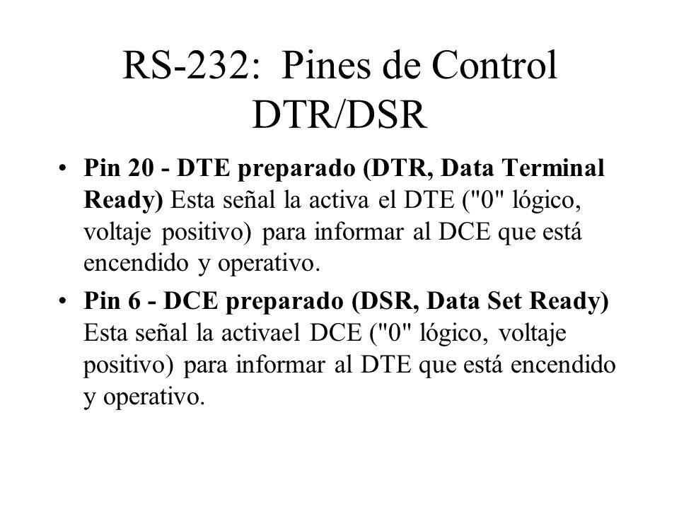RS-232: Pines de Control DTR/DSR