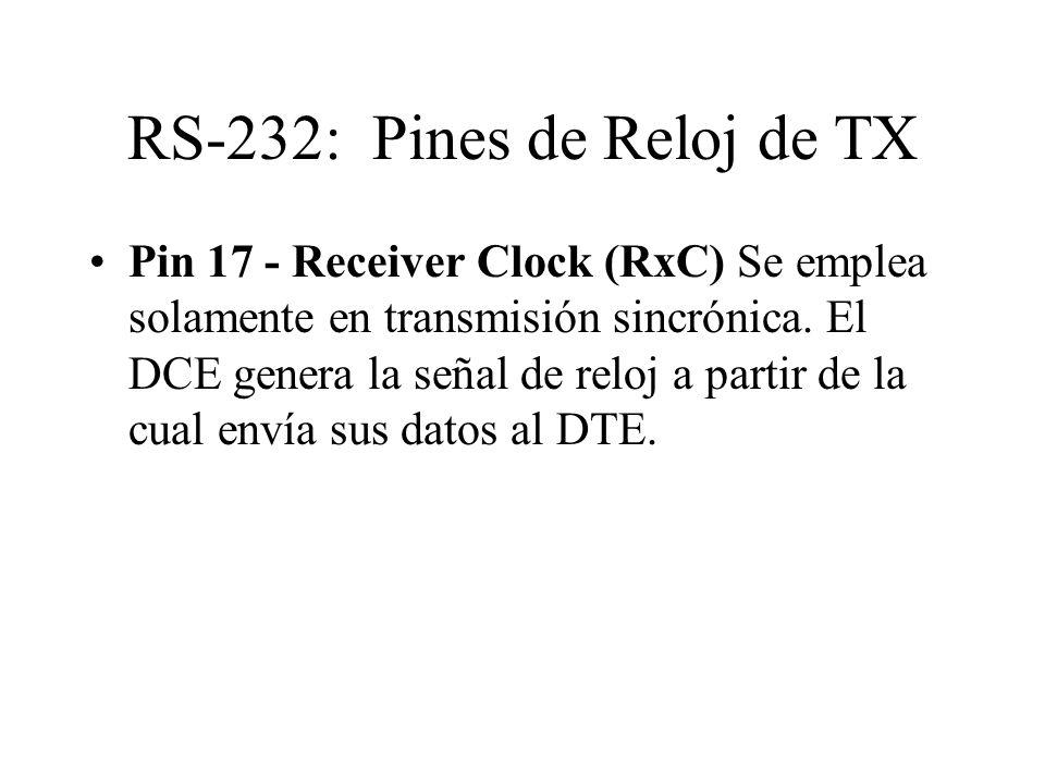 RS-232: Pines de Reloj de TX