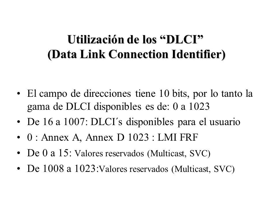 Utilización de los DLCI (Data Link Connection Identifier)
