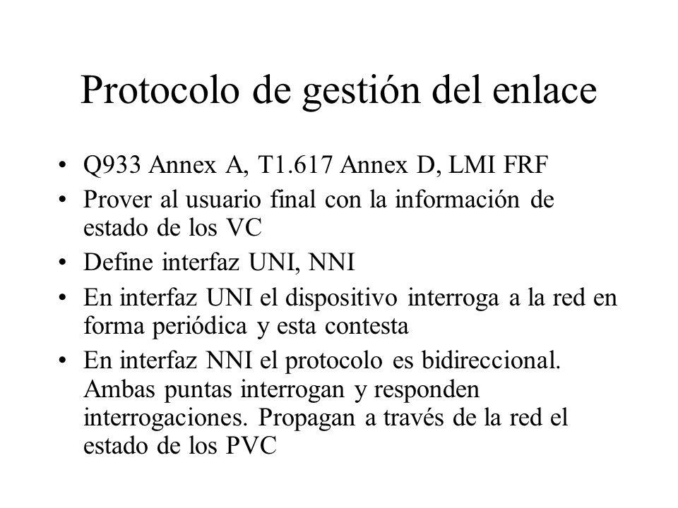 Protocolo de gestión del enlace