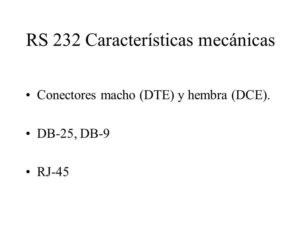 RS 232 Características mecánicas