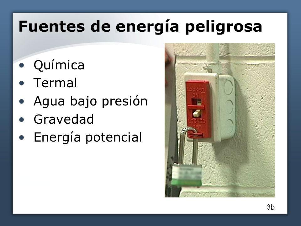 Fuentes de energía peligrosa