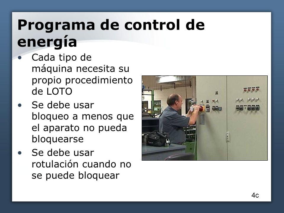 Programa de control de energía