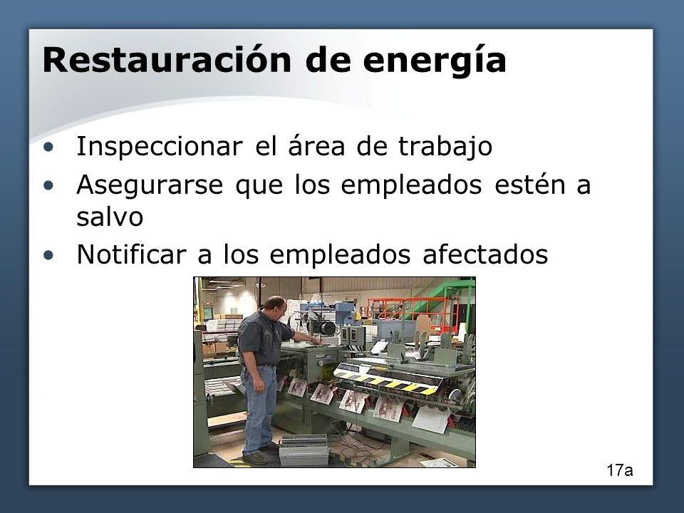 Restauración de energía