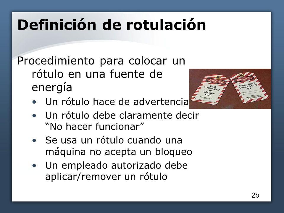 Definición de rotulación