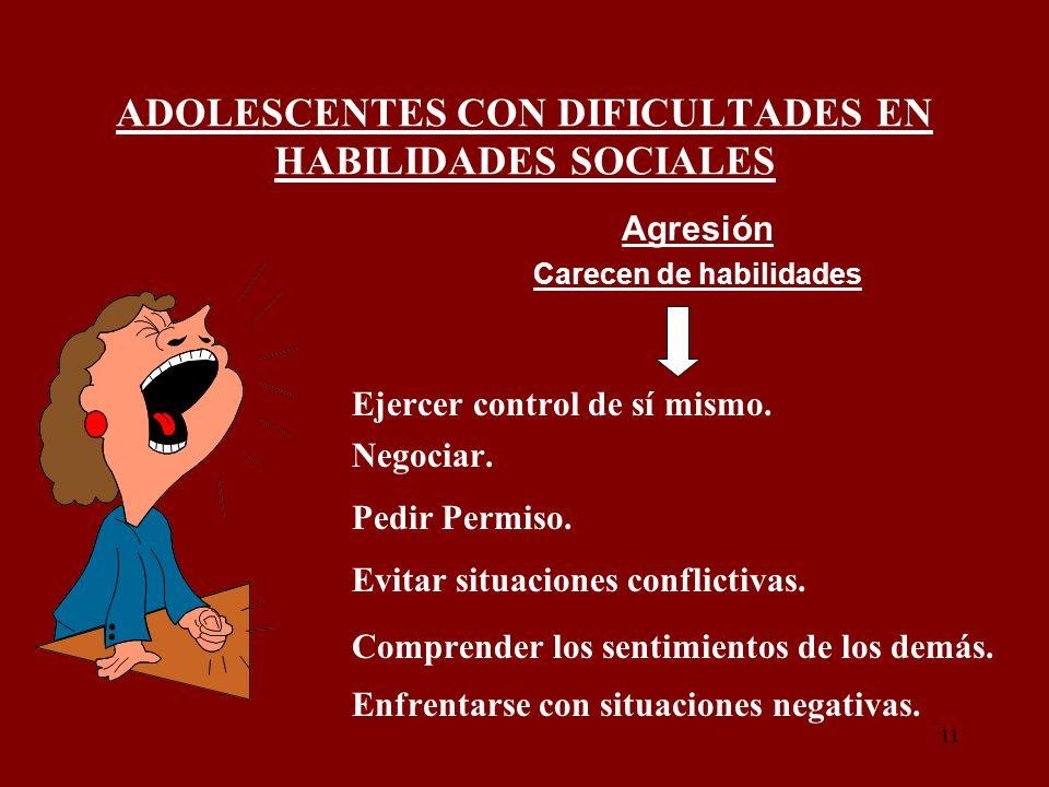 ADOLESCENTES CON DIFICULTADES EN HABILIDADES SOCIALES