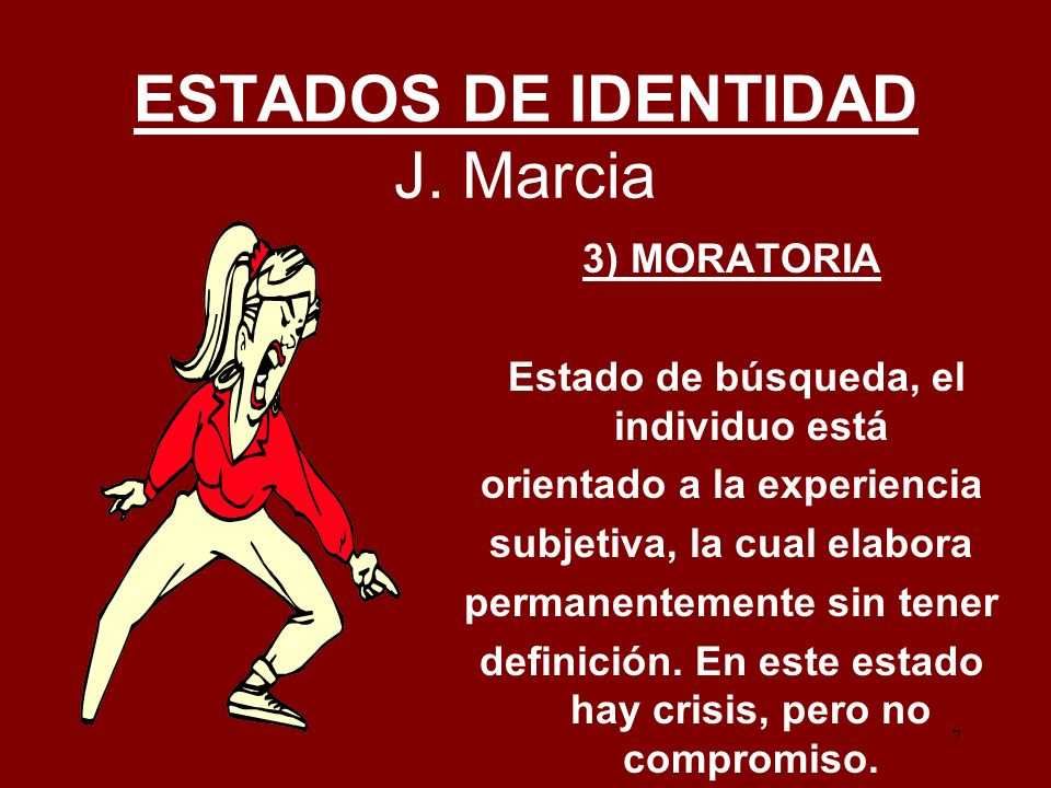ESTADOS DE IDENTIDAD J. Marcia
