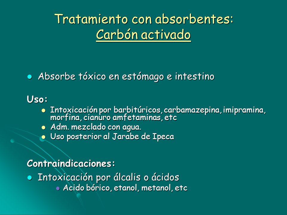 Tratamiento con absorbentes: Carbón activado