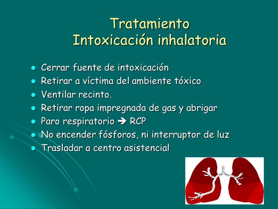 Tratamiento Intoxicación inhalatoria