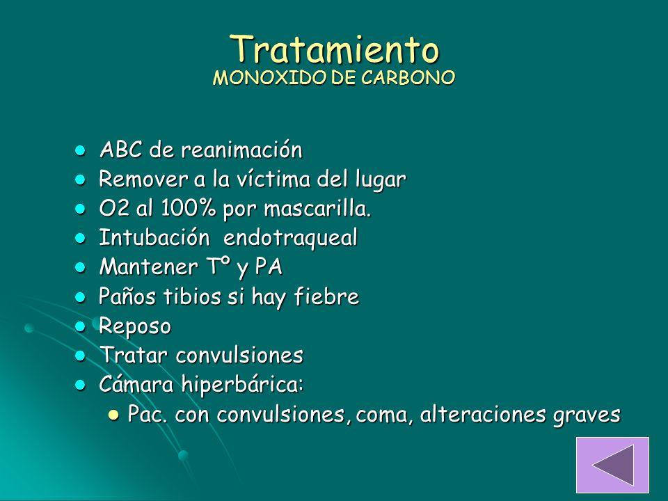 Tratamiento MONOXIDO DE CARBONO