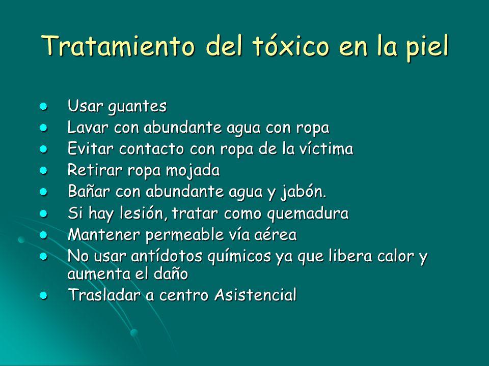 Tratamiento del tóxico en la piel