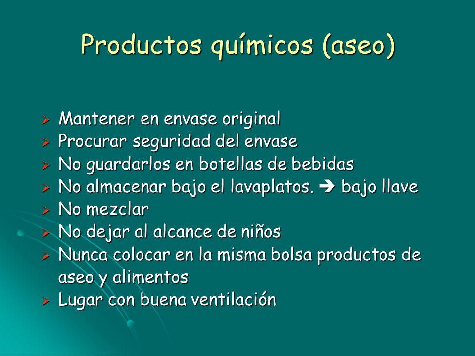 Productos químicos (aseo)