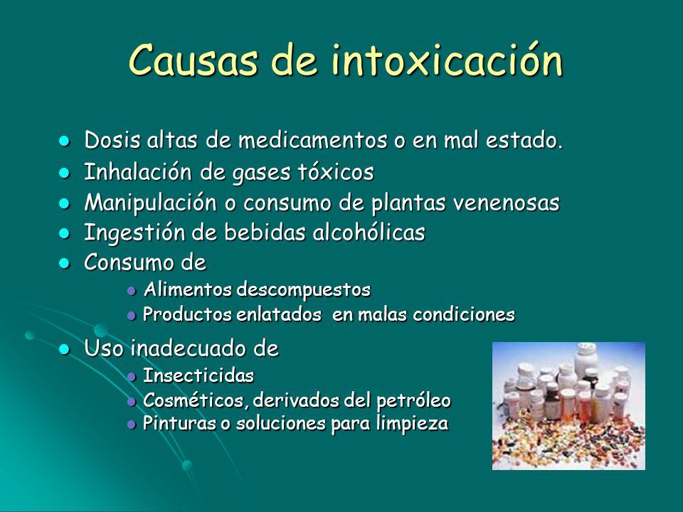 Causas de intoxicación